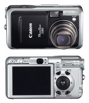 Canon s80 front back - thumb