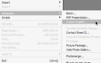 Create a Photoshop Droplet