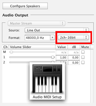 adjust these settings to 2 Channel output !