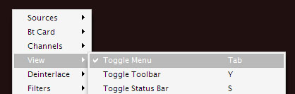 Dscaler scheduler toggle menu
