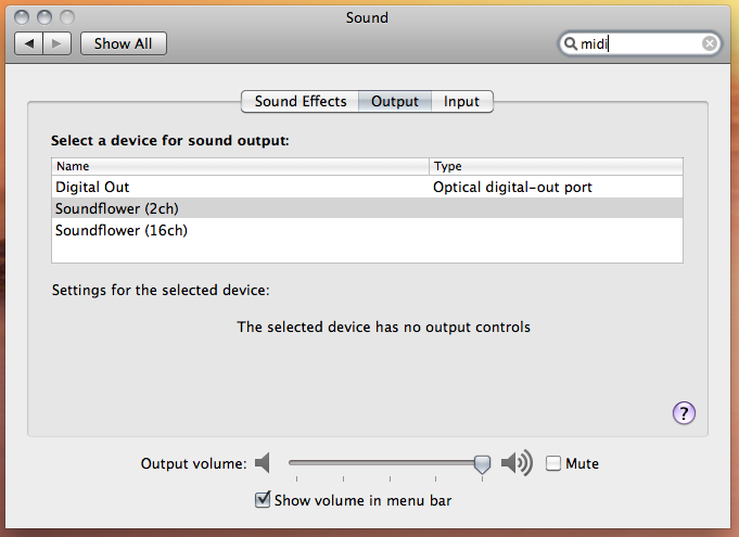 audio output system wide