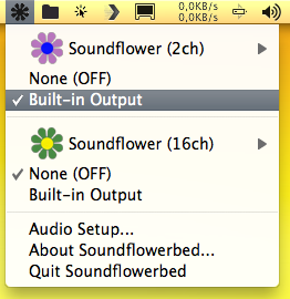 soundflower menu settings